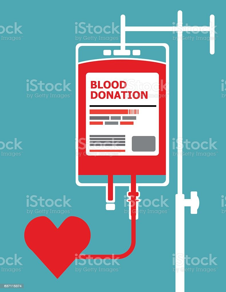 Blood Donation concept background vector art illustration