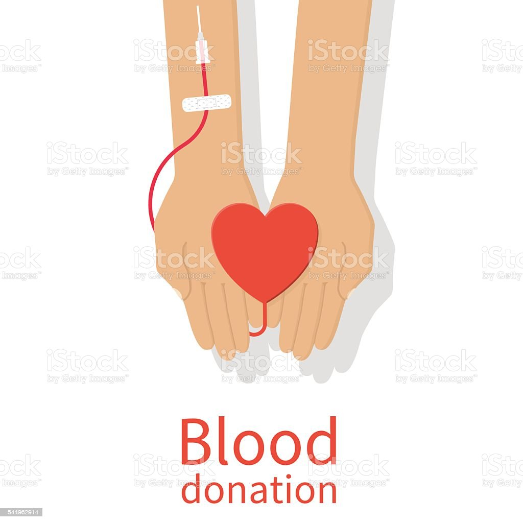 Blood donation concept. vector art illustration