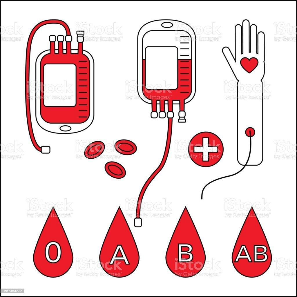 blood donation concept vector art illustration
