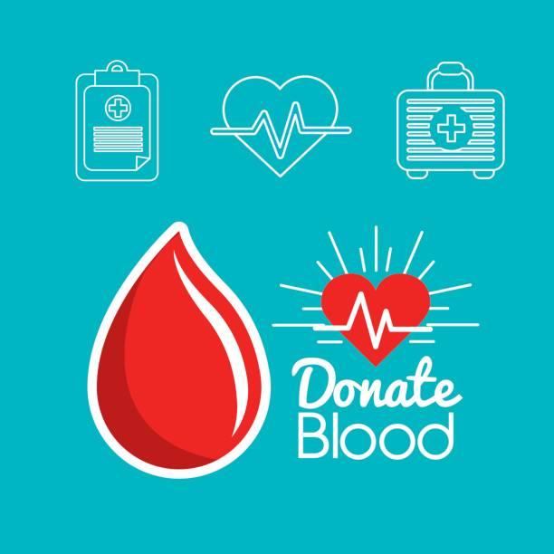 ícone de dias de doação de sangue - ilustração de arte em vetor