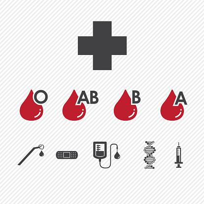 Blood donation Group icons set.illustration eps10