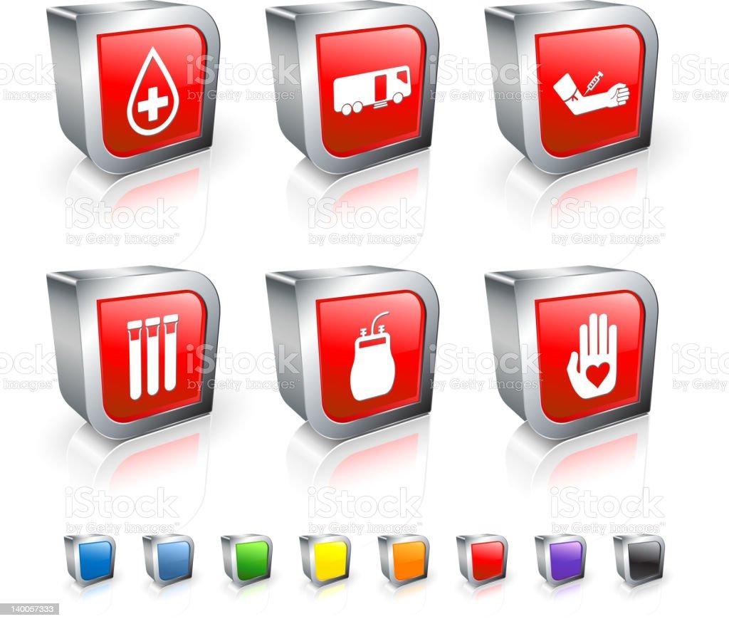 blood donation icon set vector art illustration