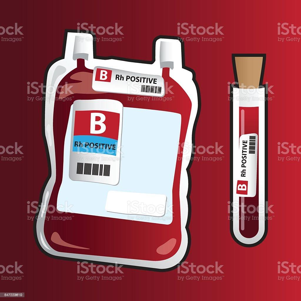 Blood donation - Illustration vector art illustration