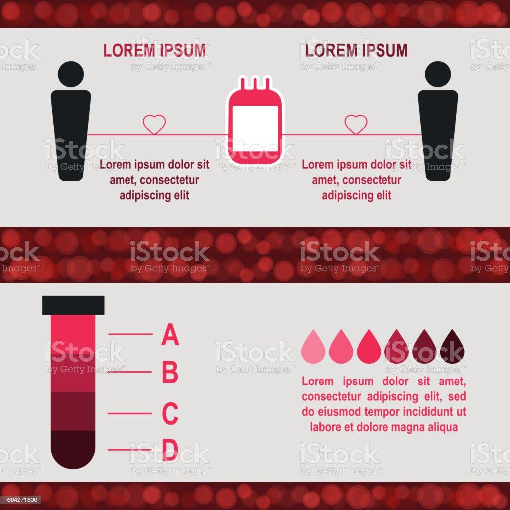 Blood donation Poster template vector art illustration