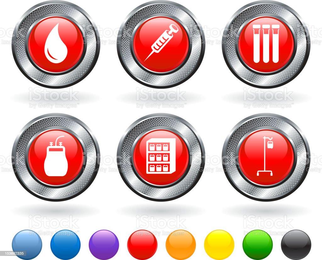 blood donation royalty free vector icon set vector art illustration