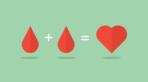 blood donation saves lives vector art illustration