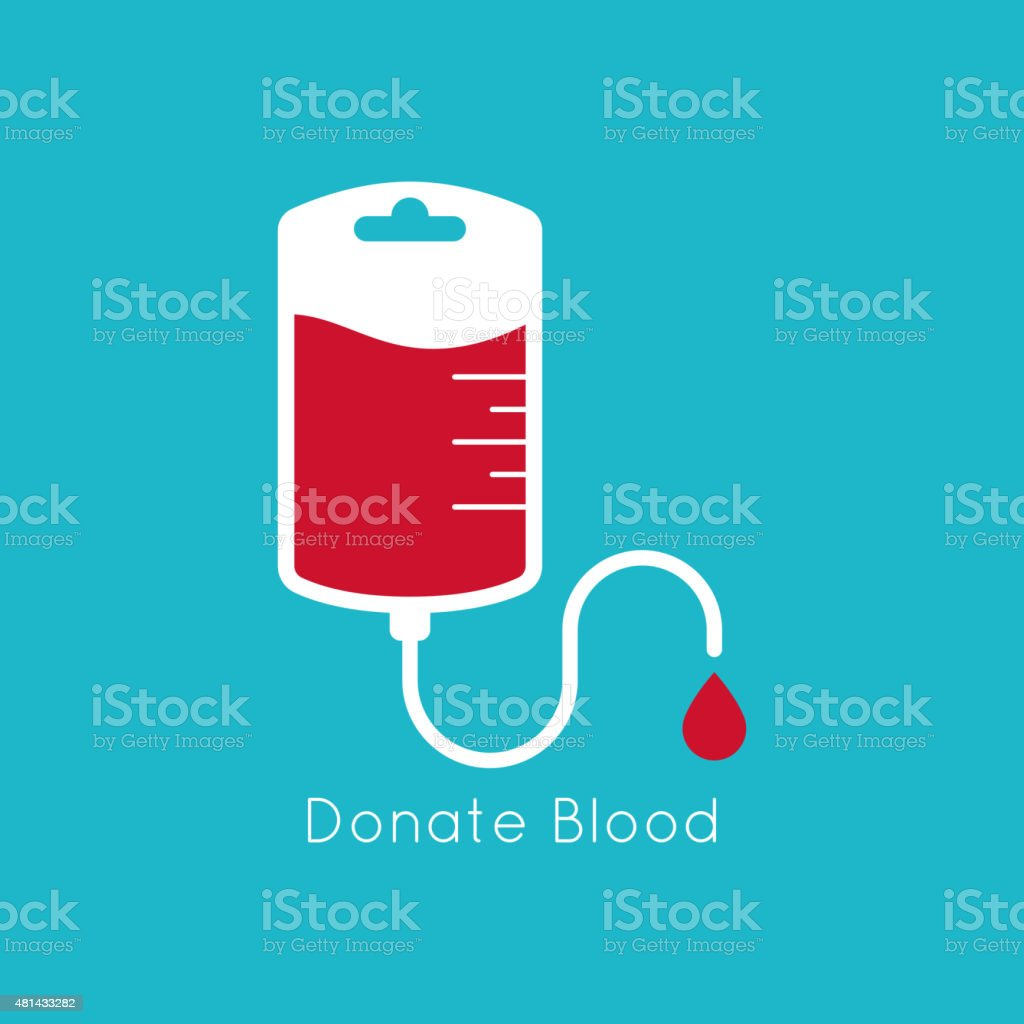 blood donation vector art illustration