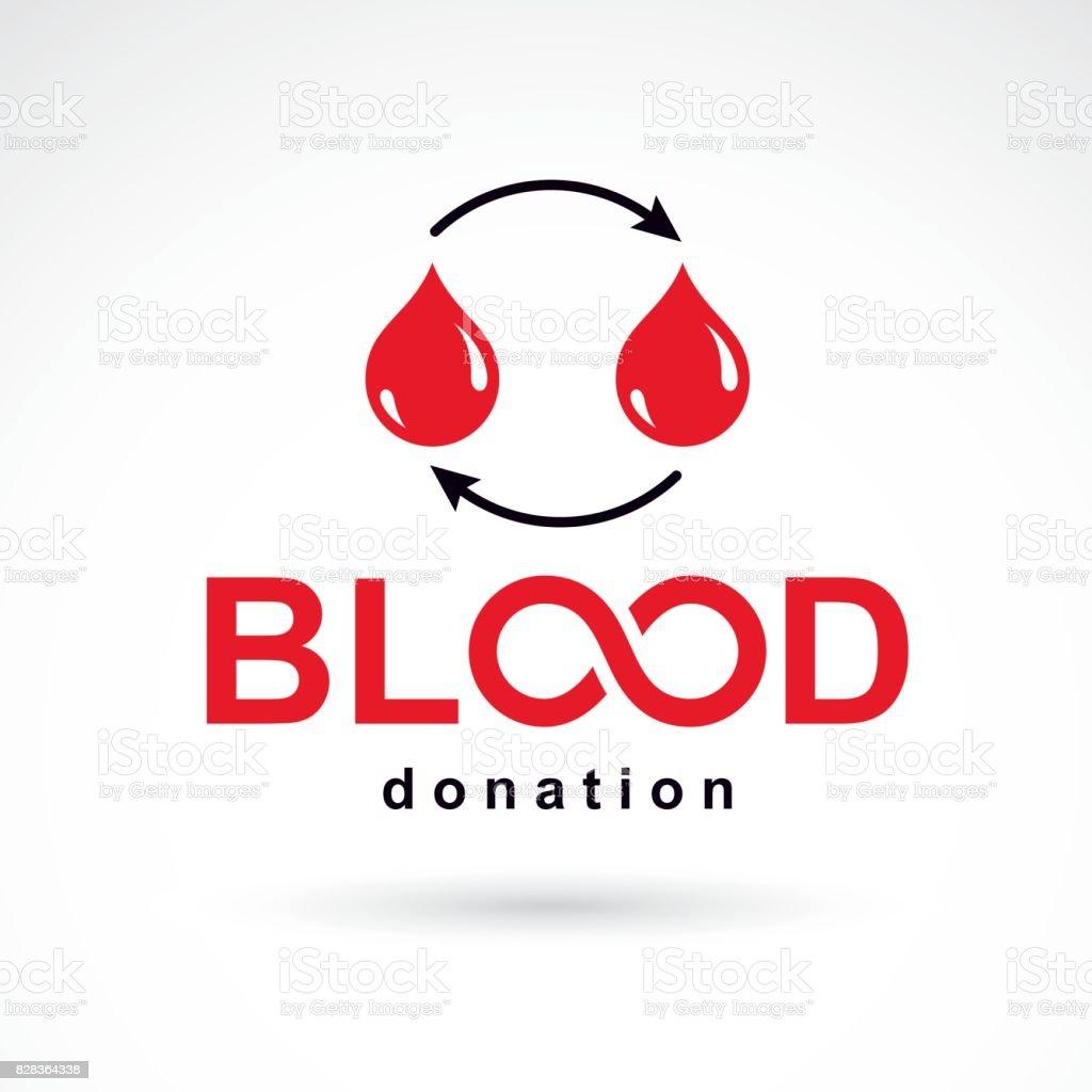 Blood donation vector symbol created with red blood drops and blood donation vector symbol created with red blood drops and arrows blood transfusion metaphor buycottarizona