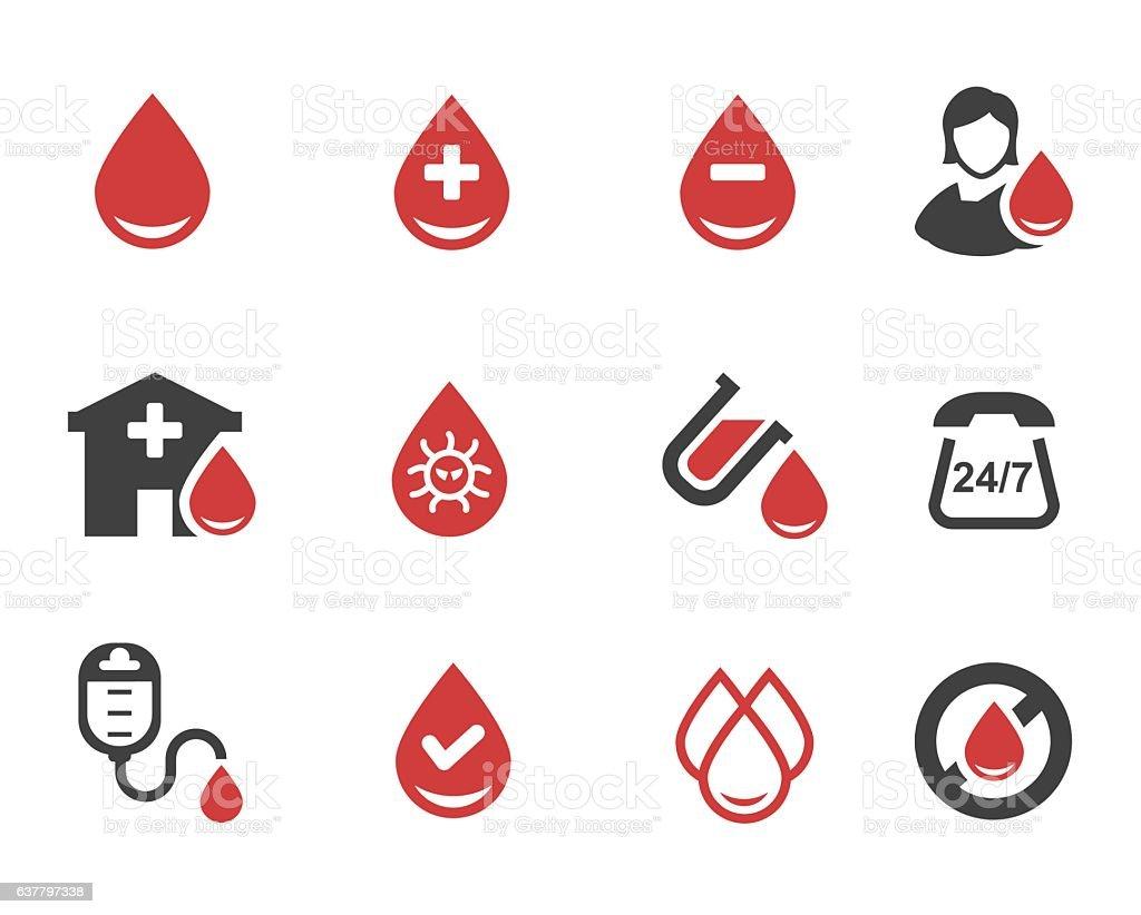 Doação de sangue vetor - ilustração de arte em vetor