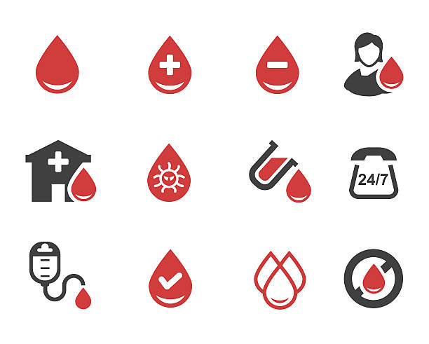 Blood donation vector Vector illustration of Blood donation vector red blood cell stock illustrations