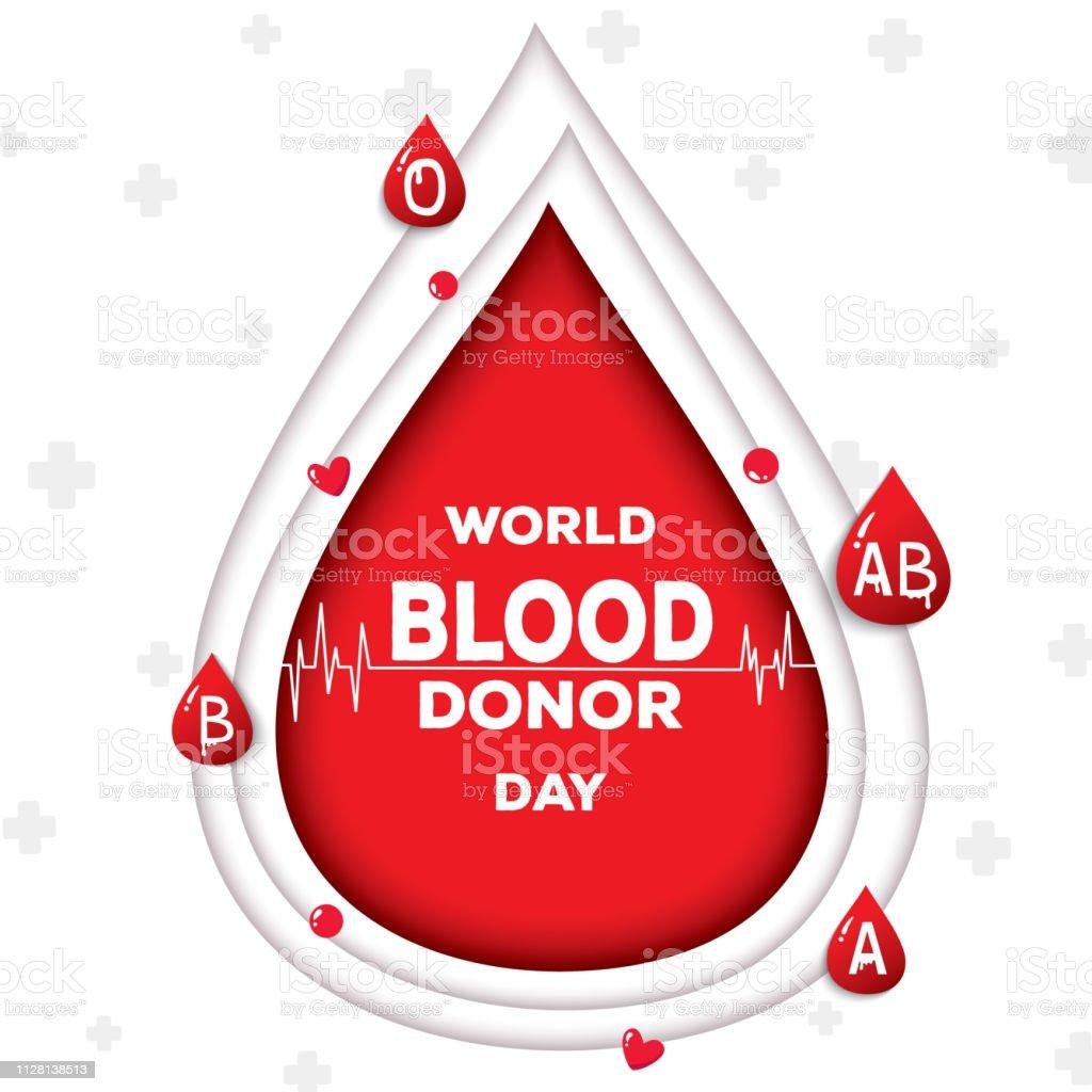 blood doner day vector art illustration