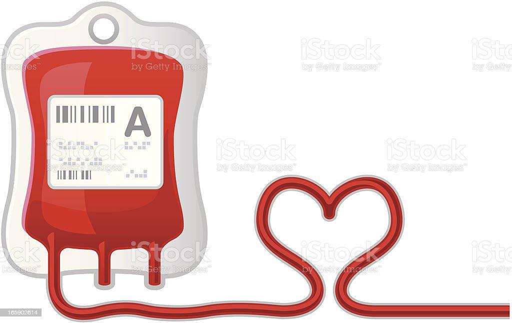 Blood donor vector art illustration