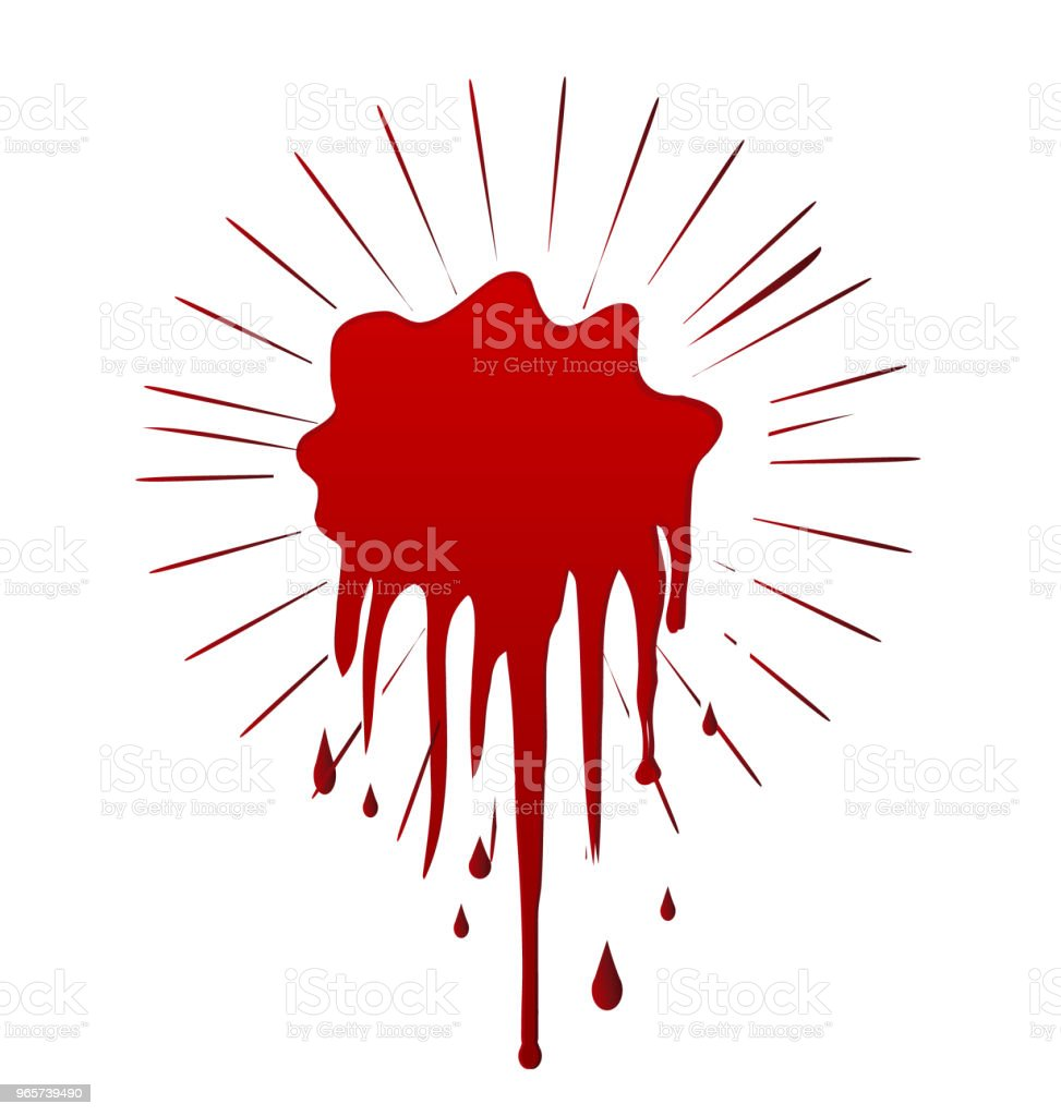 Blood dripping spot splash graphic - Royalty-free Abstract stock vector
