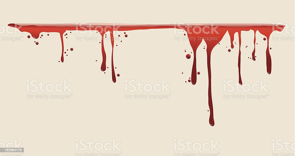 Blood dripping vector art illustration