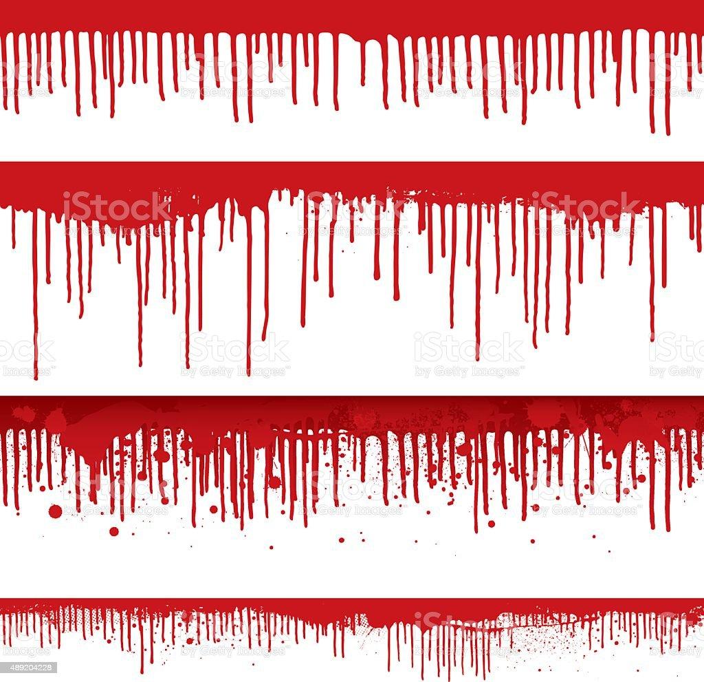Blut drips und Farbspritzern – Vektorgrafik