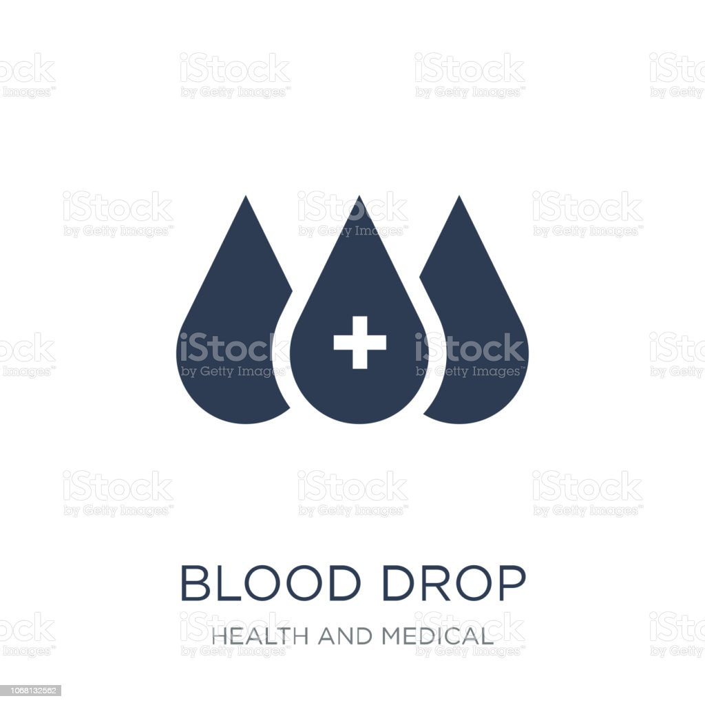 Blood drop icon. Trendy flat vector Blood drop icon on white background from Health and Medical collection vector art illustration