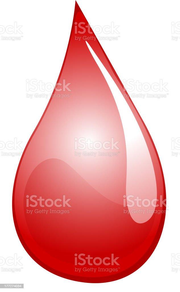 Blood drop royalty-free stock vector art