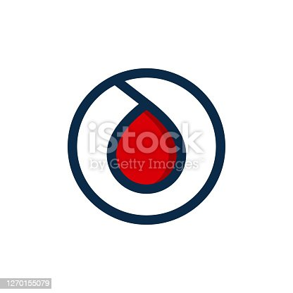 istock blood droplet logo design vector icon the symbol of a bloods drop symbol illustration 1270155079
