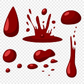 Blood drop vector isolated.
