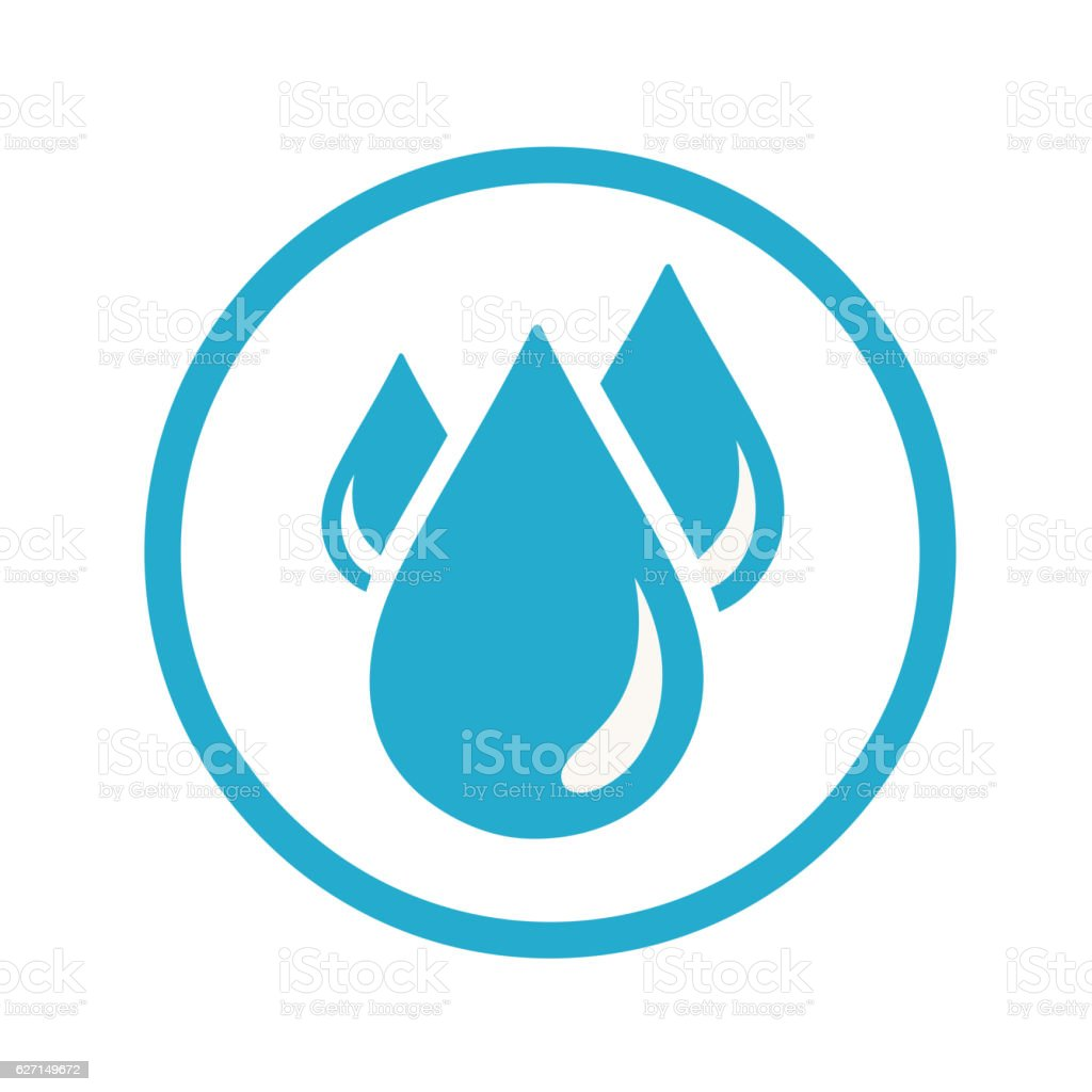 Blood drops icon vector art illustration