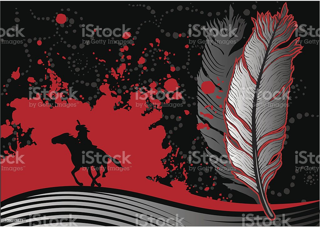 Blood Feather royalty-free stock vector art
