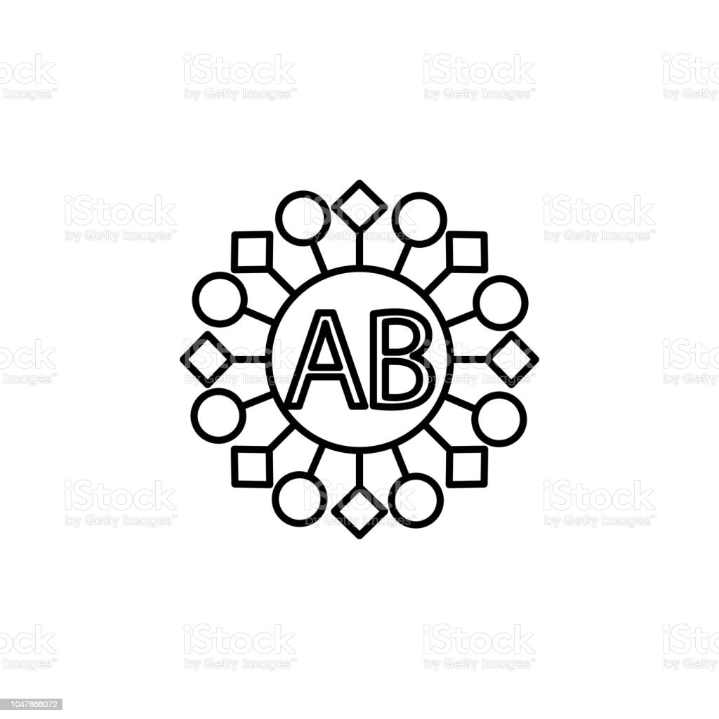 AB Blood Icon Element Of Donation For Mobile Concept And Web Apps Illustration Thin Line Website Design Development App
