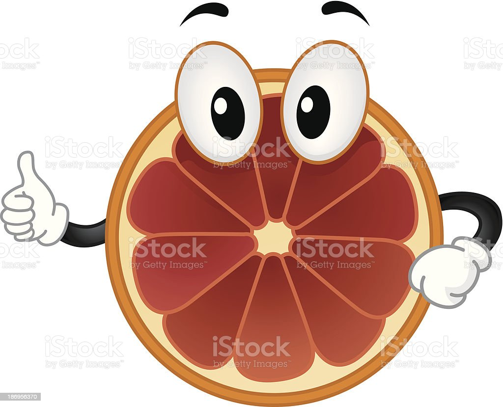 Blood Orange Mascot vector art illustration