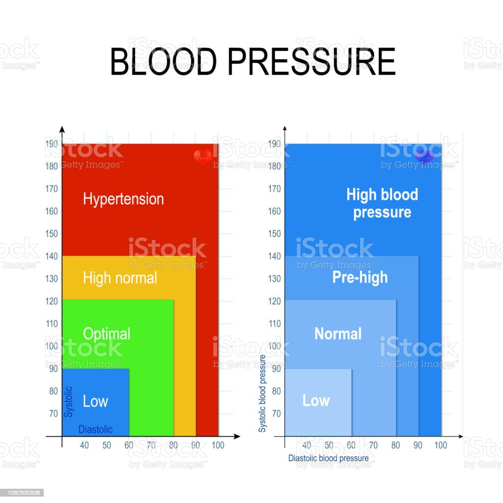 Blood Pressure Chart Stock Illustration   Download Image Now   iStock