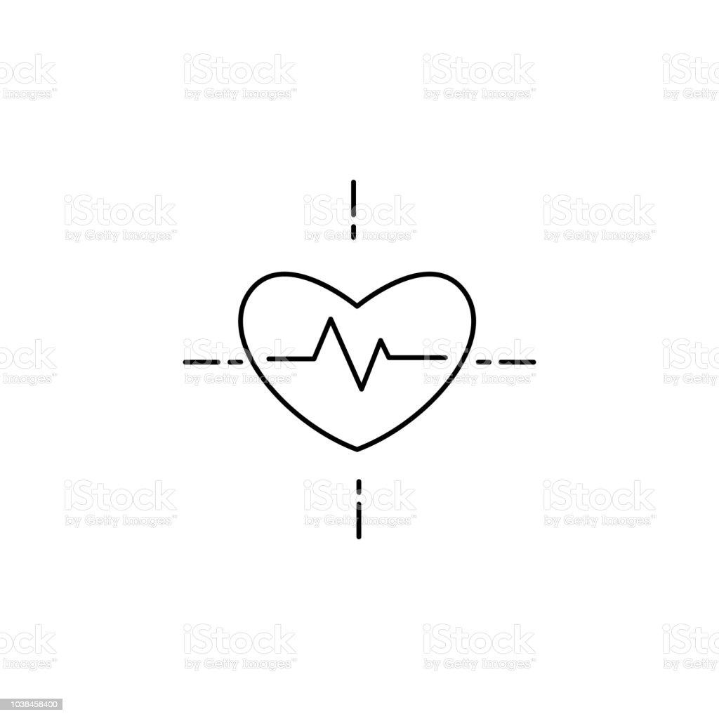 Blood Pressure Cholesterol Concept Line Icon Simple Element