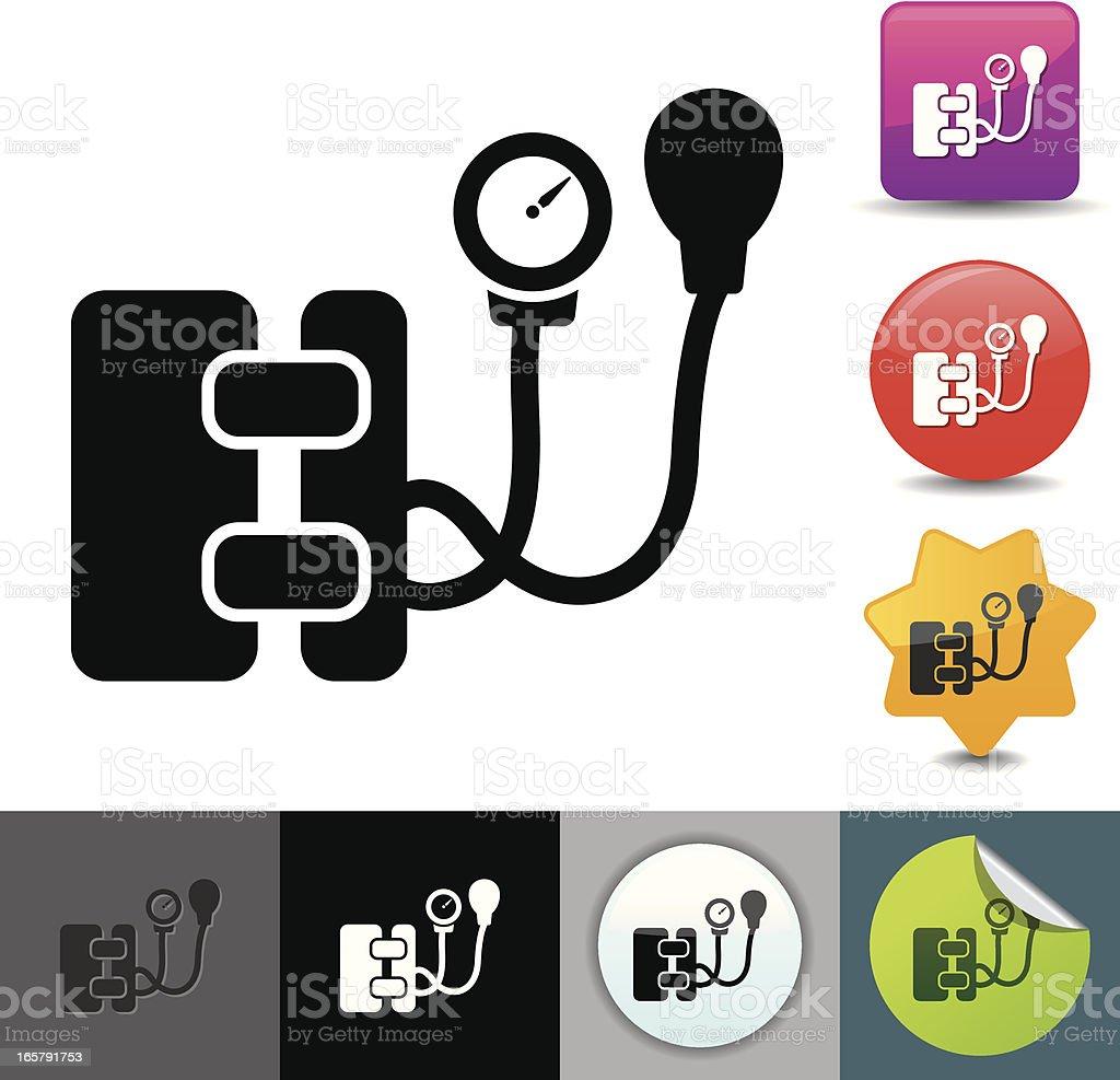 Blood pressure gauge icon | solicosi series vector art illustration