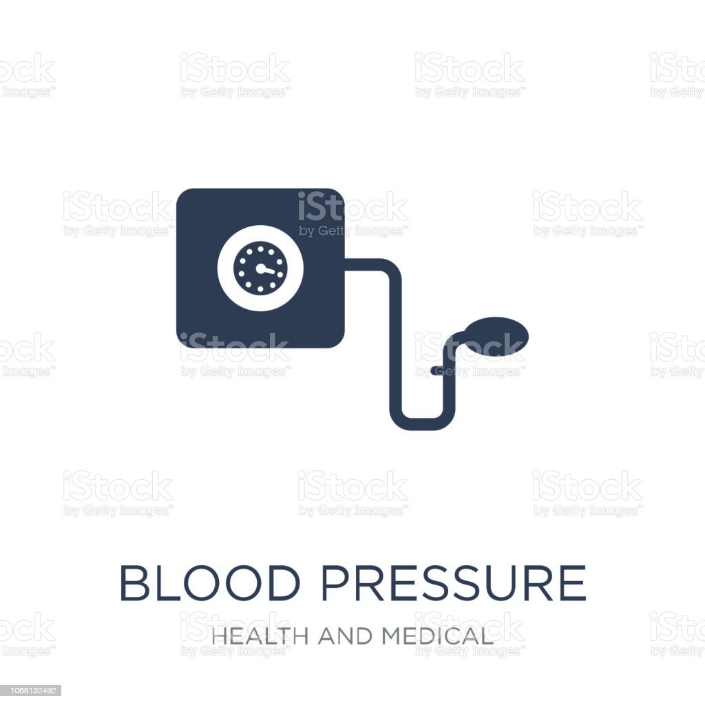 Blood Pressure Gauge icon. Trendy flat vector Blood Pressure Gauge icon on white background from Health and Medical collection vector art illustration