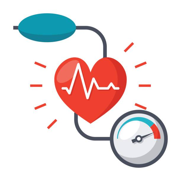 blood pressure icon - stress stock illustrations, clip art, cartoons, & icons