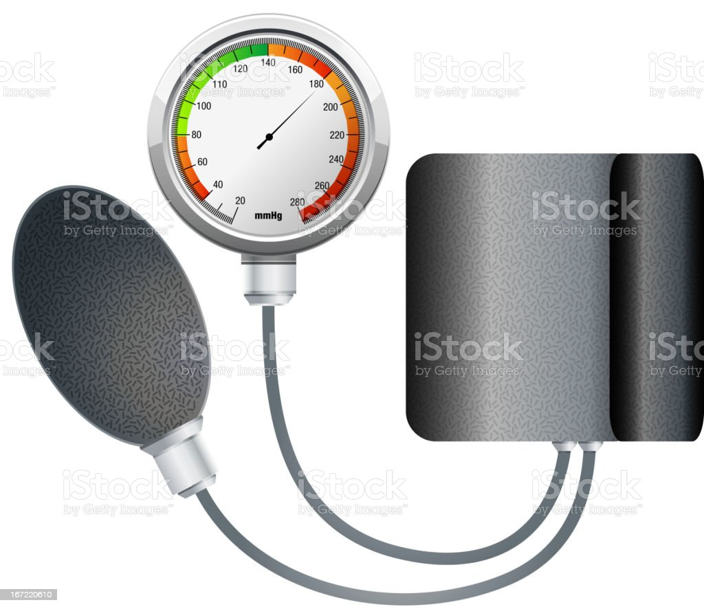 Blood Pressure Monitoring royalty-free stock vector art