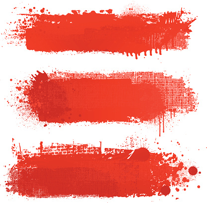 Blood red grunge textured vector backgrounds