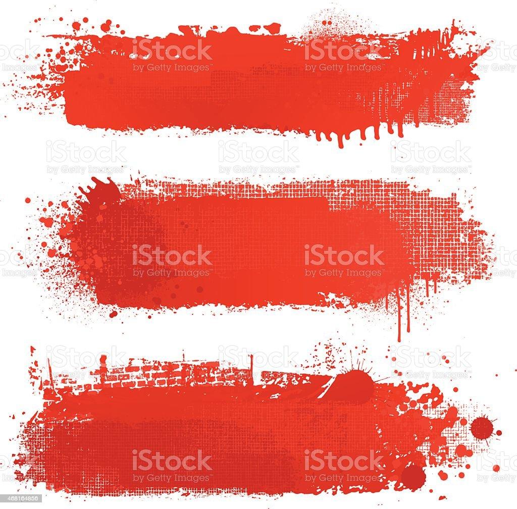 Blut red grunge strukturierte Vektor-Hintergründe – Vektorgrafik