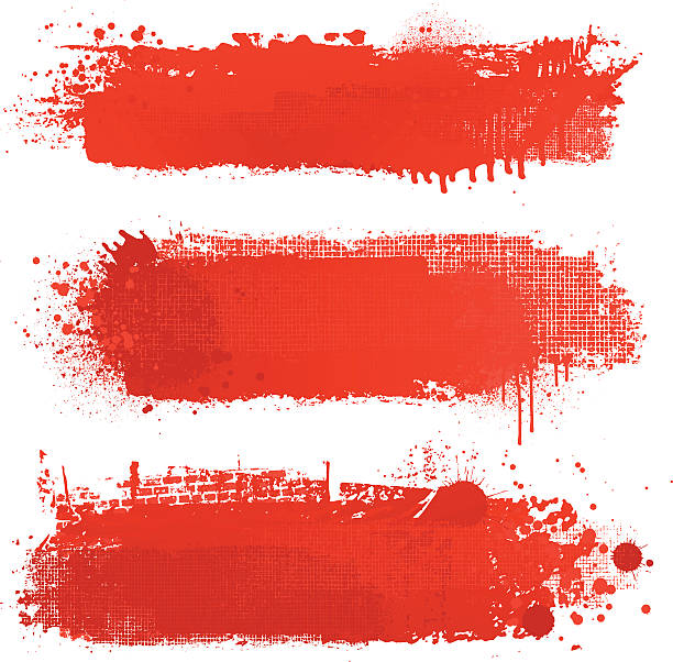 Blood red grunge textured vector backgrounds vector art illustration