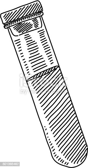 Blood Sample In Test Tube Drawing Stock Vector Art & More