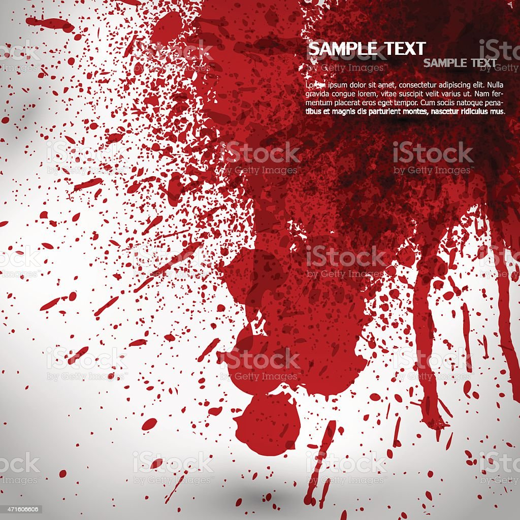 Blood splash and splatter vector vector art illustration