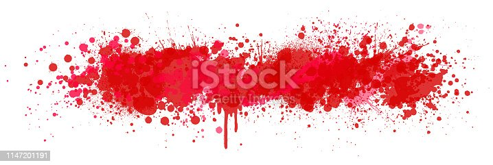 Red paint splatter vector design background