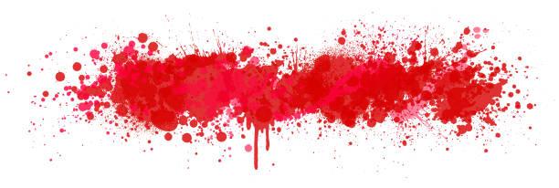 ilustraciones, imágenes clip art, dibujos animados e iconos de stock de fondo de salpicadura de sangre - sangre