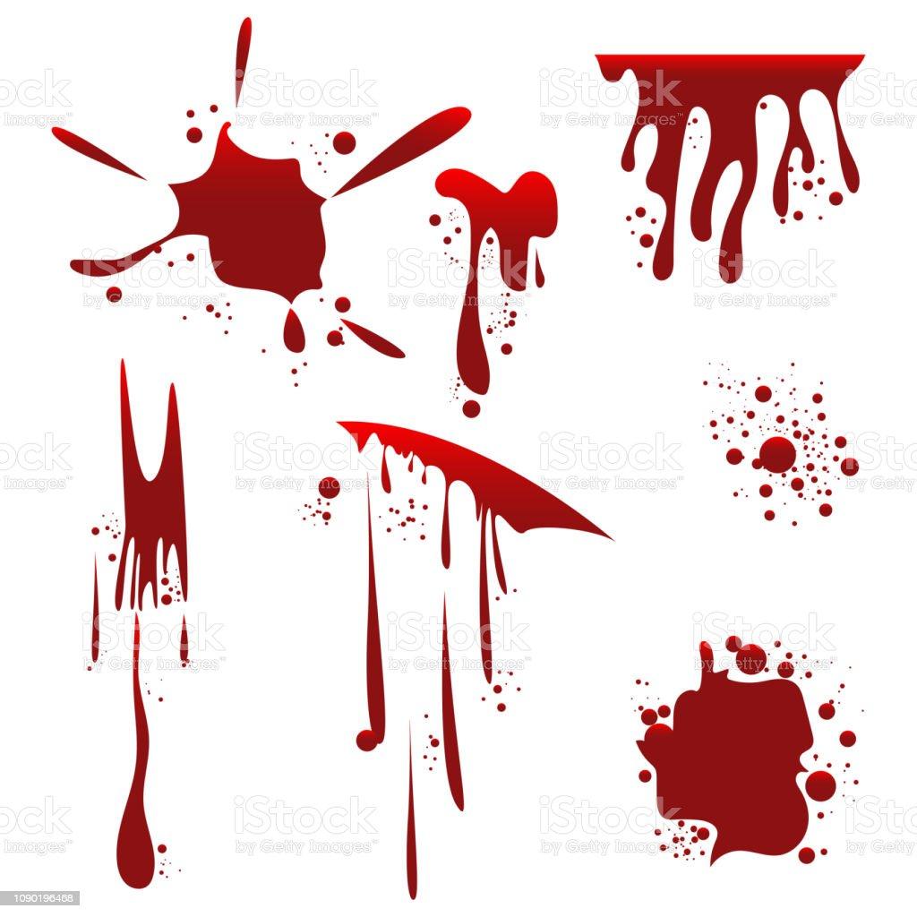 血飛沫ベクトル デザイン イラスト しぶきのベクターアート素材や画像