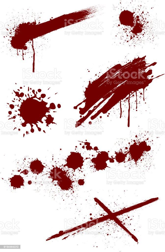 血しぶきイラスト セット しぶきのベクターアート素材や画像を多数ご