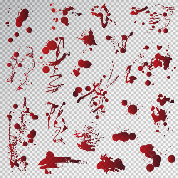 Blood splat splash spot red stain blot patch liquid vector illustration vector art illustration