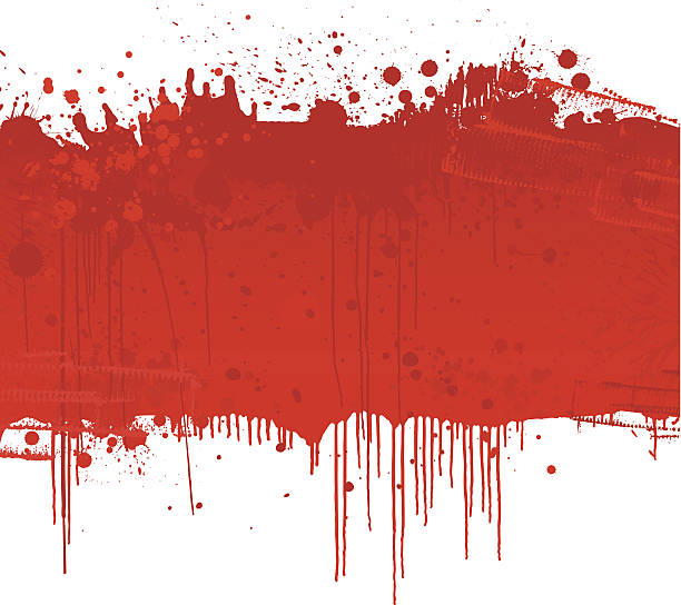Blood Splatter background vector art illustration