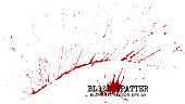 Blood splatter elements on white background . Criminal concept . Vector