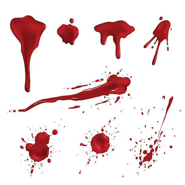 Blood splatters vector art illustration