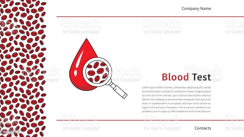 Modèle De Vecteur De Page De Garde De Test Sanguin Vecteurs