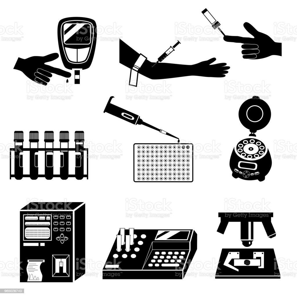 Blood test vector icons vector art illustration