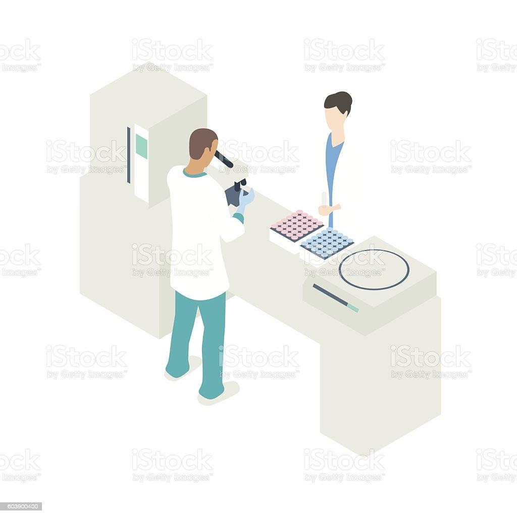 Blood work lab illustration vector art illustration