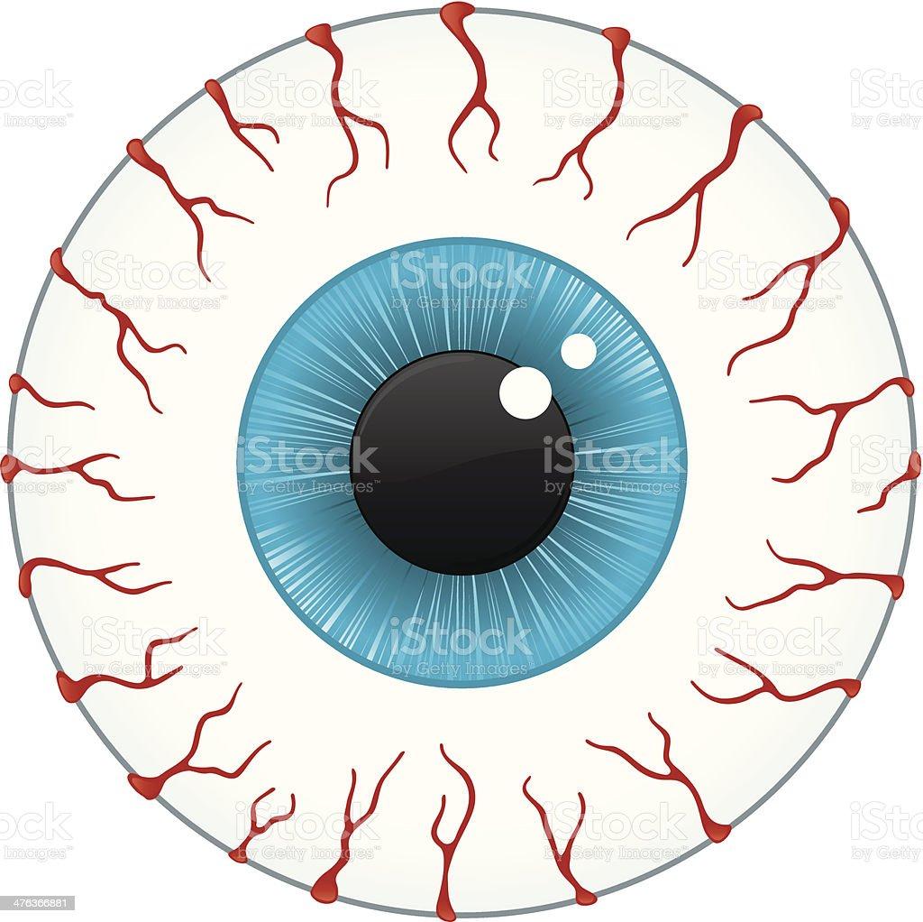 Bloodshot Eyeball vector art illustration